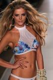 MIAMI - JULY 18: Model Danielle Knudson walks runway at Beach Bunny Swim collection Royalty Free Stock Photos