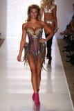 MIAMI - JULY 18: Model Samantha Hoopes walks runway at Beach Bunny Swim collection Royalty Free Stock Images