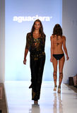 MIAMI - JULY 21: Model walks runway at Aguaclara Swimwear collection Stock Photo