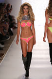 MIAMI - JULY 18: Model walks runway at Beach Bunny Swim collection Royalty Free Stock Photography