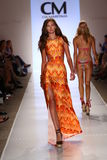MIAMI - JULY 19: Model walks runway at Cia Maritima collection Stock Photography