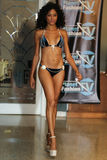 MIAMI - JULY 17: A model walks runway for Karo Swimwear collection Stock Photography