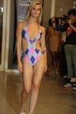 MIAMI - JULY 17: A model walks runway for Karo Swimwear collection Royalty Free Stock Photo