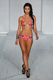 MIAMI - JULY17: Model walks runway at Lila Nicole collection Stock Image