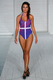 MIAMI - JULY17: Model walks runway at Lila Nicole collection Stock Photos