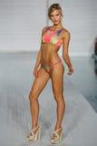 MIAMI - JULY17: Model walks runway at Lila Nicole collection Royalty Free Stock Photo