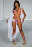 MIAMI - JULY17: Model walks runway at Lila Nicole collection Stock Photography