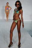 MIAMI - JULY17: Model walks runway at Lila Nicole collection Stock Photo