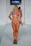 MIAMI - JULY17: Model walks runway at Lila Nicole collection Royalty Free Stock Photos