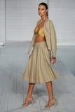 MIAMI - JULY 17: Model walks runway at Meskita collection Royalty Free Stock Image