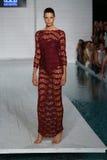 MIAMI - JULY 17: Model walks runway at Meskita collection Stock Photography