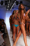 MIAMI - JULY 21: Models walk runway finale at Liliana Montoya Swim collection Stock Image