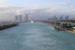 Miami kryssningport Arkivfoto