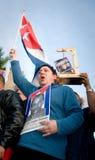 Miami kubansk disidentsprotest Arkivbild