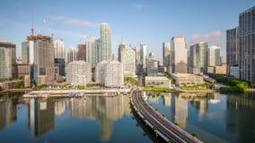 Miami, la Florida, horizonte almacen de metraje de vídeo