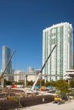 Ciudad de la construcción de Miami la Florida Foto de archivo libre de regalías