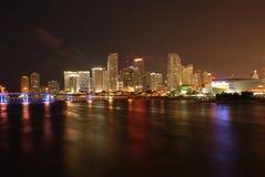 Miami la Floride - durée de nuit Photo stock