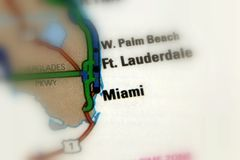 Miami, la Floride - Etats-Unis Photos stock