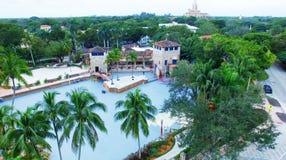 MIAMI, LA FLORIDE - 23 FÉVRIER 2016 : Coral Gables Venetian Pool u images stock