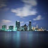 Miami la nuit Photographie stock