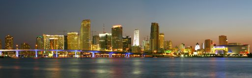 MIAMI LA NUIT Images stock