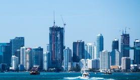 Miami landscape boat stock photos