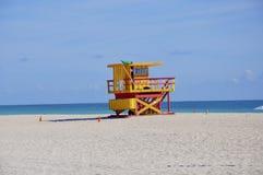 Miami lifeguard station Royalty Free Stock Photo