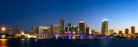 Miami linia horyzontu panorama Obraz Royalty Free