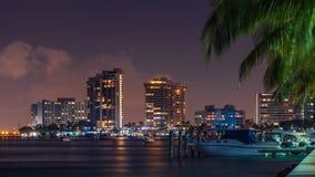 Miami linia horyzontu po zmierzchu obrazy royalty free