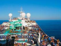 Miami, los E.E.U.U. - 12 de enero de 2014: Carnaval Glory Cruise Ship Foto de archivo