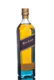 MIAMI, los E.E.U.U. - 24 de marzo de 2015: Botella de Johnnie Walker Blue Label imagen de archivo