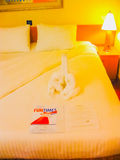 Miami, los Estados Unidos de América - 8 de enero de 2014: La travesía del carnaval Glory Cruise Ship fotos de archivo libres de regalías