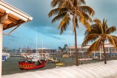MIAMI, LUTY - 23, 2016: Miami statki i port Miami powitania Obraz Stock