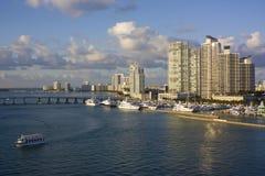Miami luxury harbor. A view of a luxury harbor in Miami Stock Image