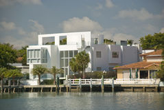 Miami luxury house Royalty Free Stock Photos