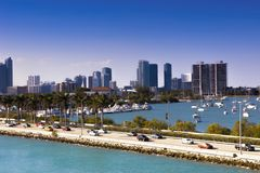 Miami, MacArthur-Damm, USA, Florida Lizenzfreie Stockbilder