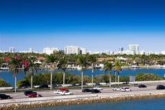 Miami, MacArthur-Damm, USA, Florida Stockfotografie