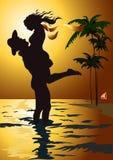 Miami Mann und Frau Lizenzfreie Stockbilder