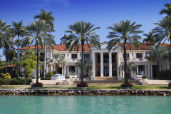 Miami mansion. Miami, Florida luxury mansion home Royalty Free Stock Image