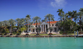 Miami mansion Royalty Free Stock Photography