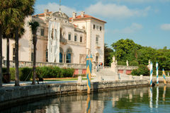 Miami Mansion. A historical mansion in Miami, Florida stock photo
