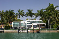 Miami Mansion. A mansion in Miami Florida's famed South Beach Royalty Free Stock Images