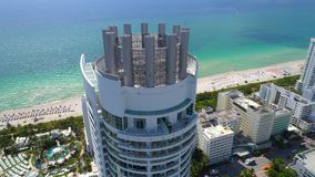 Miami mansions aerial video stock video footage