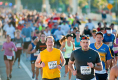 Miami Marathon Competitors Royalty Free Stock Photos