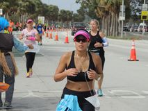 Miami Marathon Runner Stock Photos