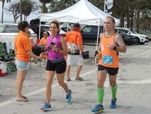 Miami Marathon Runners Royalty Free Stock Image