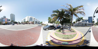 Miami Beach 360 Spherical panorama Royalty Free Stock Photography