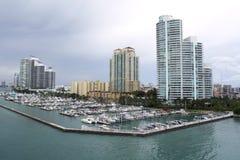 Miami marina Arkivbild