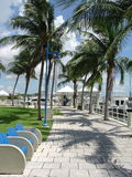 Miami Marina Walk royalty free stock images
