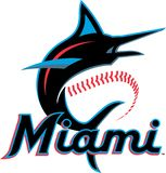 Miami Marlins new logo vector royalty free stock images